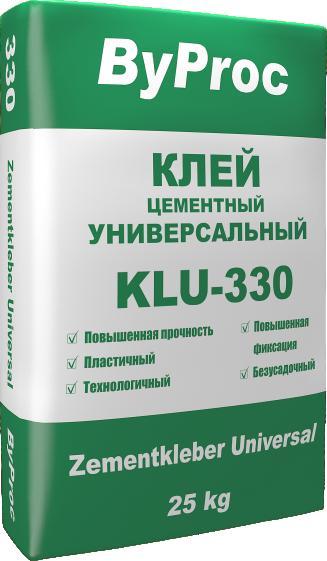Клей цементный универсальный KLU-330 25кг