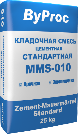 Кладочная смесь цементная стандартная MMS-010 25кг