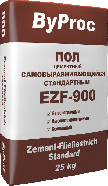 Пол цементный самовыравнивающийся стандартный  EZF-900 25кг
