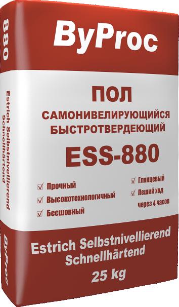 Пол цементный самонивелирующийся быстротвердеющий ESS-880 25кг