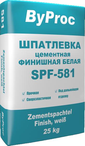 Шпатлевка цементная финишная белая SPF-581 25кг