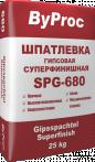 Шпатлёвка гипсовая суперфинишная SPG-680 25кг