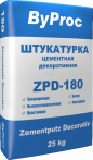 Штукатурка цементная декоративная ZPD-180 25кг