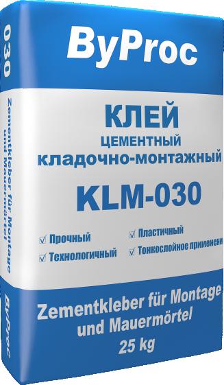 Клей цементный кладочно-монтажный KLM-030 25кг