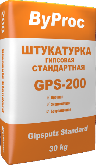 Штукатурка гипсовая стандартная GPS-200 30кг