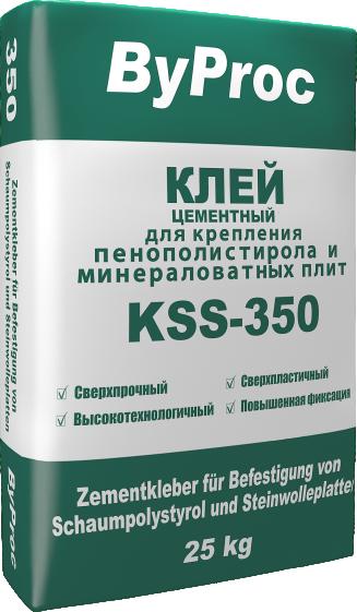 Клей цементный для крепления пенополистирола и минераловатных плит KSS-350 25кг