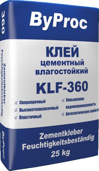 Клей цементный влагостойкий KLF-360 25кг