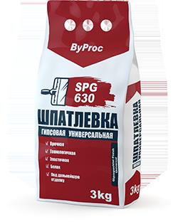 Шпатлёвка гипсовая универсальная SPG-630 3 кг