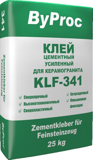 Клей цементный усиленный для керамогранита KLF-341 25кг