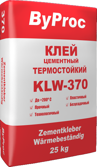 Клей цементный термостойкий KLW-370 25кг